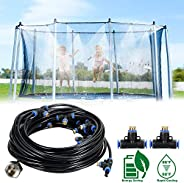 GLHMOGM Trampoline Sprinkler Outdoor Spary Waterpark Play Sprinklers for Kids Fun Summer Yard Game Toys for Bo