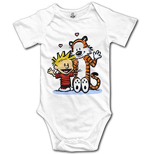 Hoicp Calvin And Hobbes Baby's Climbing Clothes White