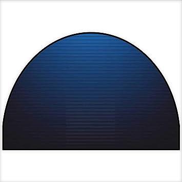 Amazon Com Semicircle Area Rug Digital Stylized Horizontal Lines