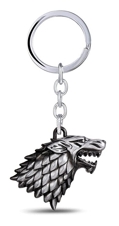 migaga Game of Thrones: Stark Direwolf Sigil Llavero: Amazon ...