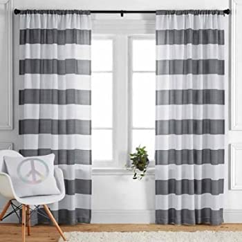 52 x 84 Indigo Better Homes and Gardens Damask Curtain Panel