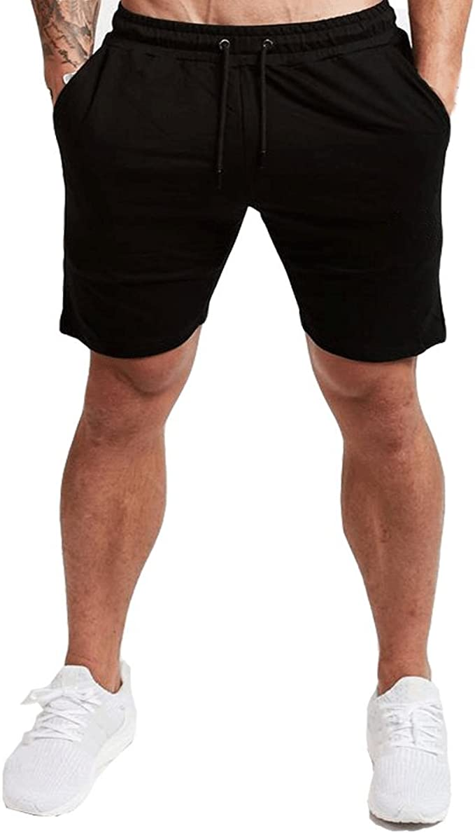 Men/'s Sport Casual Shorts Pants Gym Fitness Bodybuilding Jogging With Pockets