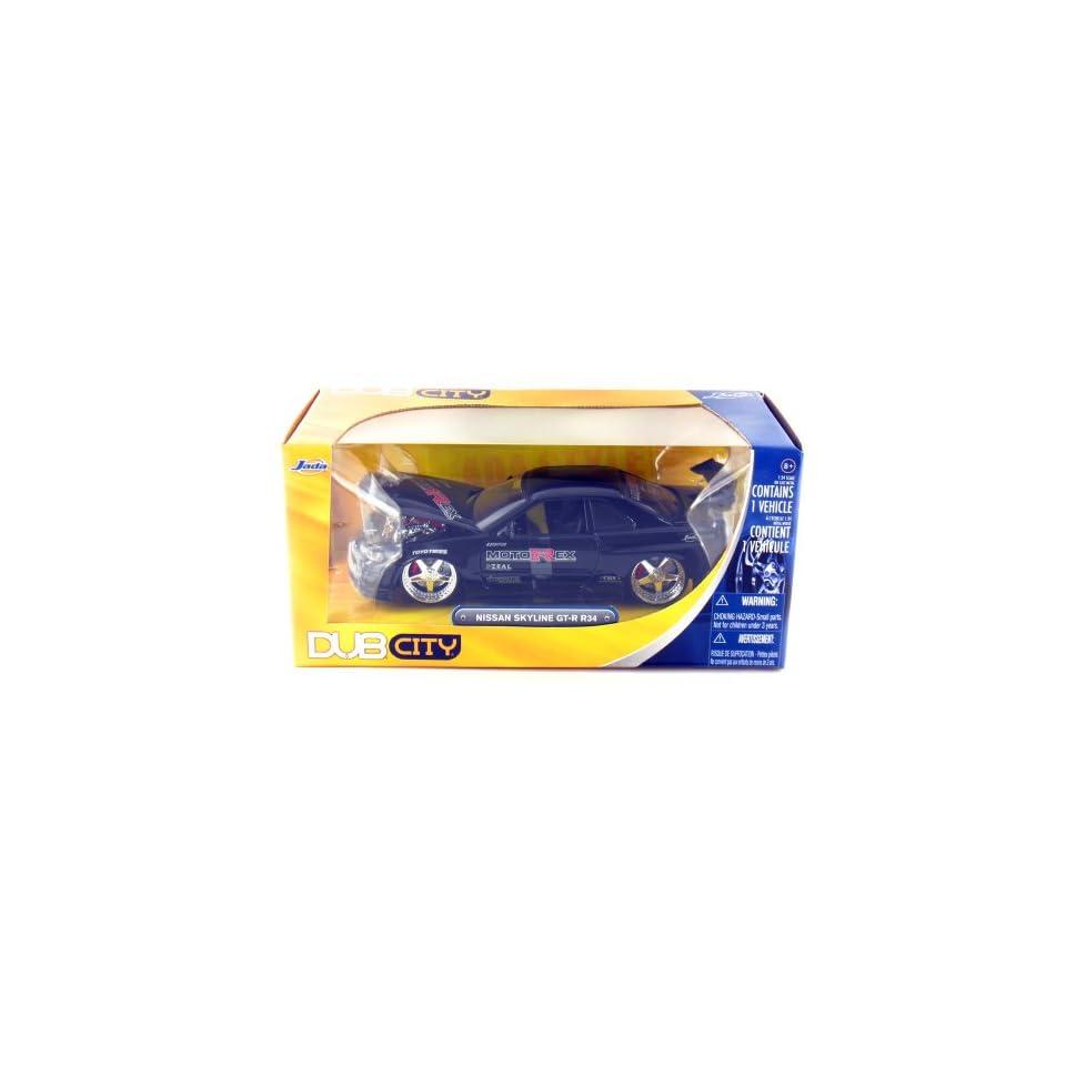 Jada Toys 2002 Nissan GT R R34, DUB City 124 Scale