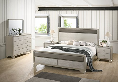 Roundhill Furniture B480QDMN2 Keila Contemporary 5-Piece Bedroom Set