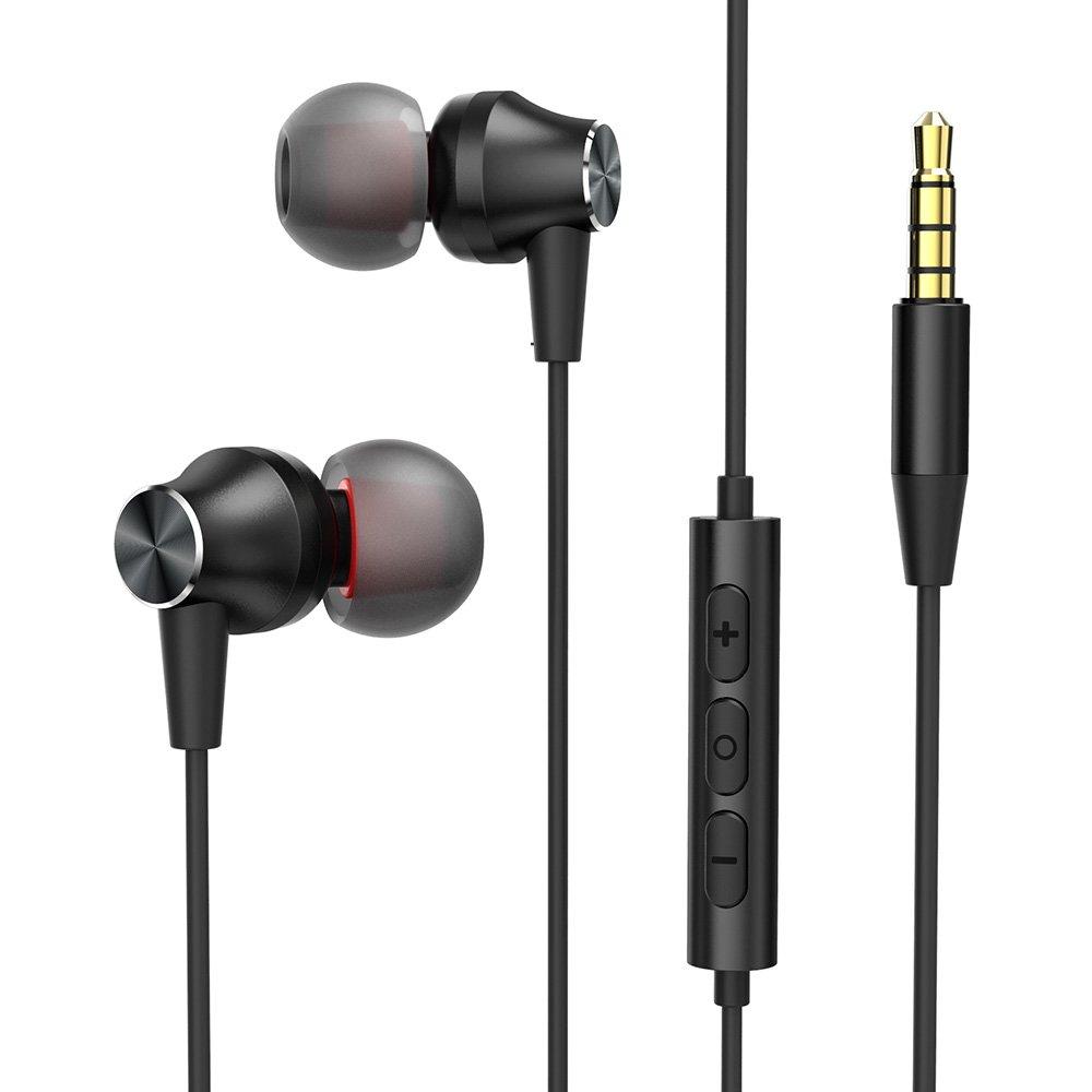 VAVA in Ear Kopfhörer Super Bass in Ear Ohrhörer mit Mikrofon Dual Dynamic Treiber Noise Reduction Headset für iOS & Android Geräte VA-EP004DE