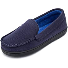 Cozy Niche Women's Moccasin Slippers, Anti-Slip House Shoes, Indoor Outdoor Rubber Sole Loafers