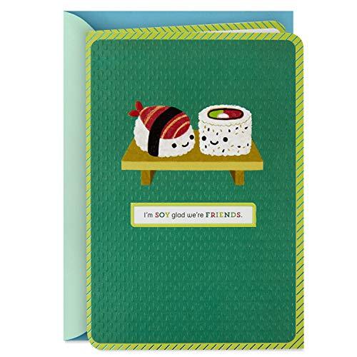 Hallmark Birthday Card, Thank You Card, Friendship Card (Sushi) (Birthday Cards Friends)