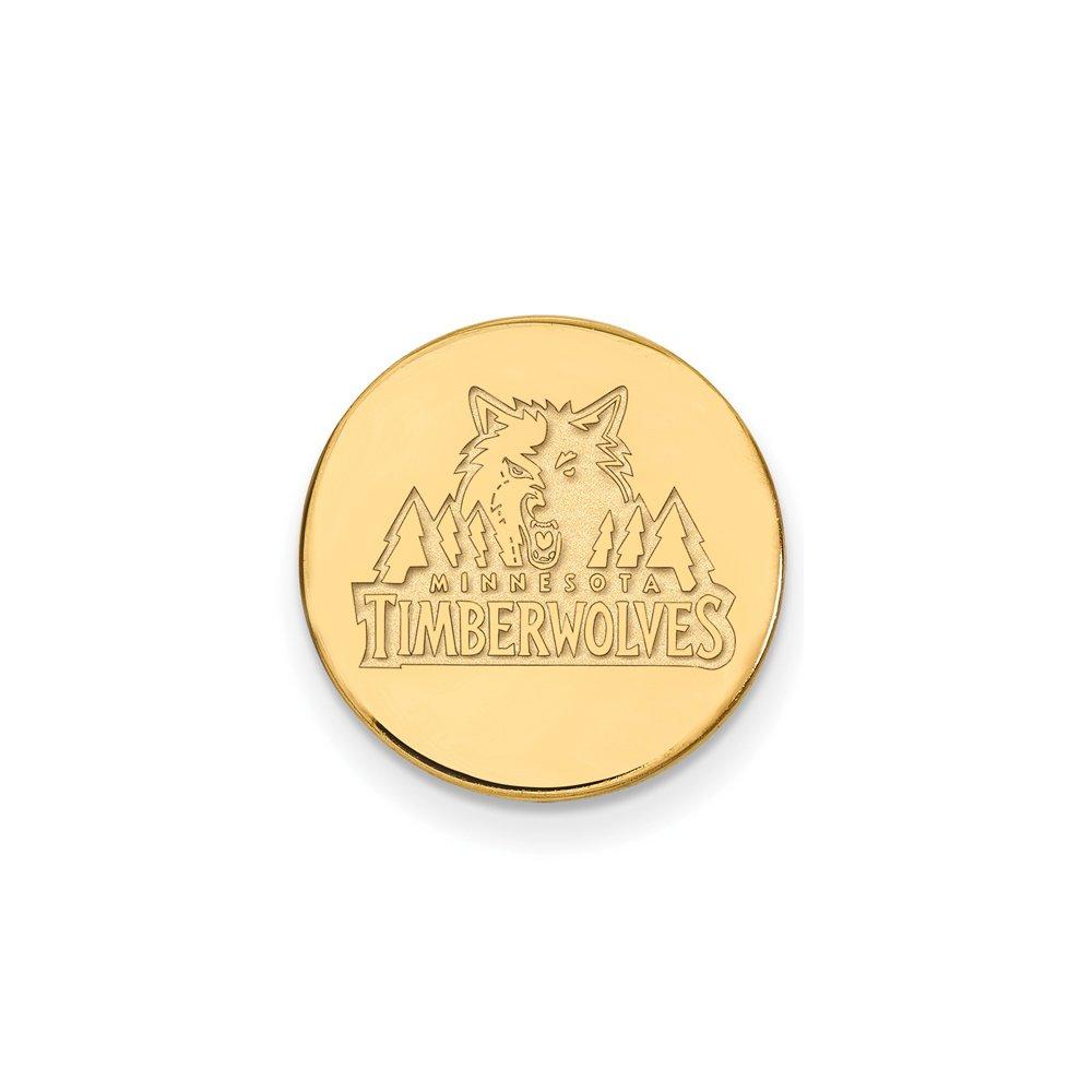 NBA Minnesota Timberwolves Lapel Pin in 14K Yellow Gold
