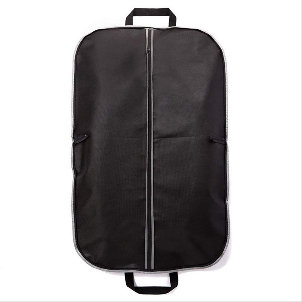 KSUNSEVEN Hanging Storage Bag Set for Suit Garment Bag Covers Carriers Storage Or Suit Bag Dress Outer Coat Travel with Clear Window (Color : Black, Size : L)