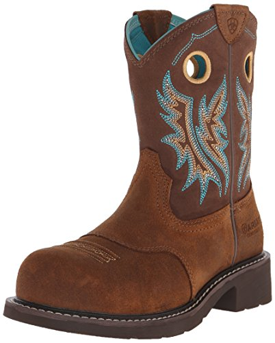 (ARIAT Women's Fatbaby Cowgirl Composite Toe Work Boot Fireside Size 6 B/Medium)