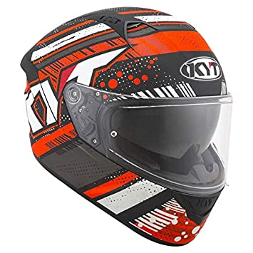Amazon.es: KYT casco Moto Integral nf-r, Energy Matt Antracita/Red ...