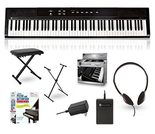 Williams Legato 88-Key Digital Piano Packages Beginner Package - Weighted Keys Piano