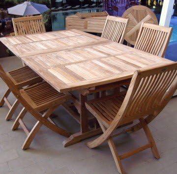Velmo-mesa cuadrada extensible hasta 6 sillas 3 metros de teca ...
