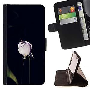 BullDog Case - FOR/Apple Iphone 6 PLUS 5.5 / - / spring flower black lilac pink nature /- Monedero de cuero de la PU Llevar cubierta de la caja con el ID Credit Card Slots Flip funda de cuer