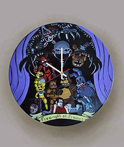 7 Of 9 Borg Costume (Five Nights at Freddy's HANDPAINTED HANDMADE Vinyl Record Wall Clock - Get unique home room wall decor - Gift ideas for friends – Video Game Unique Art)