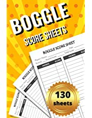 Boggle Score Sheets: 130 Large Boggle Score Sheet Pages For Scorekeeping. Boggle Game. Boggle Score Record Notebook. Boggle Score Card. Boggle Writing Note. Big Boggle Scorebook for Your Big Game. Boggle Score Pads For Game. Large Boggle Score Keeping