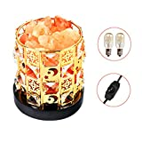 Himalayan Salt Lamp Zenlink Crystal Rock Lamp Pink Salt Lamp with Crystal Wood Base UL Listed Dimmer Switch
