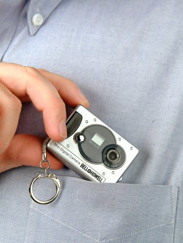 Vivitar Mini Digital Camera with Micro Light Keychain Set - colors may vary