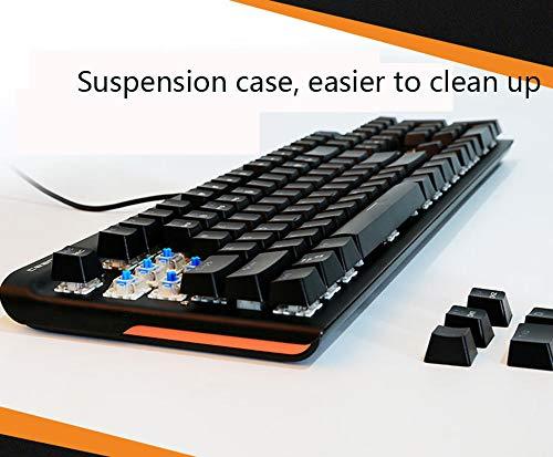 (SHOFEYP Mechanical Keyboard, Mechanical Keyboard Green Axis, Computer Cable, USB Plug, Gaming Keyboard, Large Online Game)
