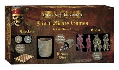 Pirates Of The Caribbean Dice Game - Pirates of the Caribbean 3 in 1 game Set