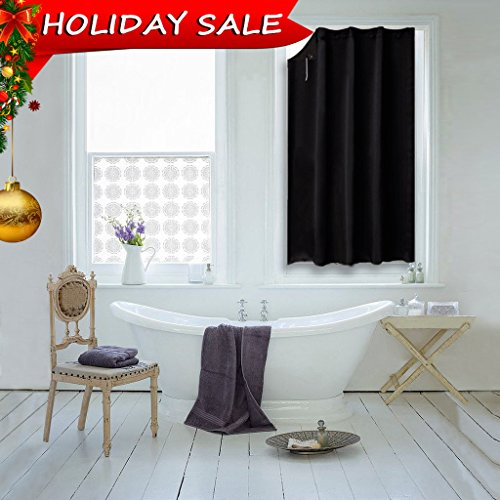 Blackout Shade Curtain Temporary Blinds - NICETOWN Versatile Anywhere Portable Lightweight Drape with Suction Cups for Dormer(One Piece,51