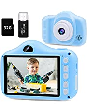 $32 » Kids Camera- 12MP Camera for Kids with 3.5 inch Large Screen, 1080P HD Digital Video Cameras for Toddler Children's Birthday with 32GB SD Card, SD Card Reader