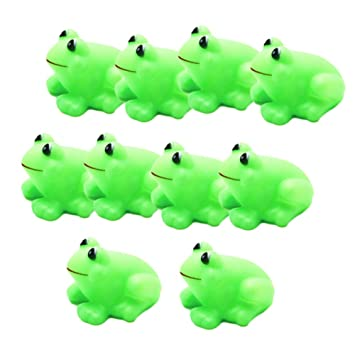 Funny Baby Rubber Bathtub Toys Pack of 10 pcs Frogs