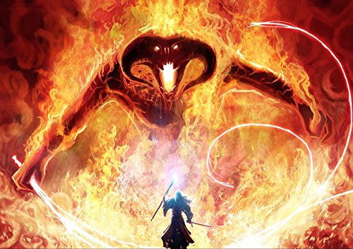 Poster BALROG GANDALF BATTLE LORD OF THE RINGS SEIGNEURS DE ANNEAUX