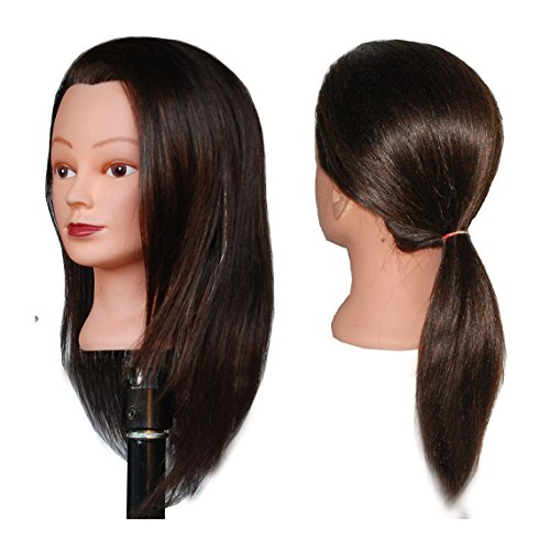 "HairZtar 100% Human Hair 18 "" Mannequin Head Hairdresser Training Head Manikin Cosmetology Doll Head - CASEY"