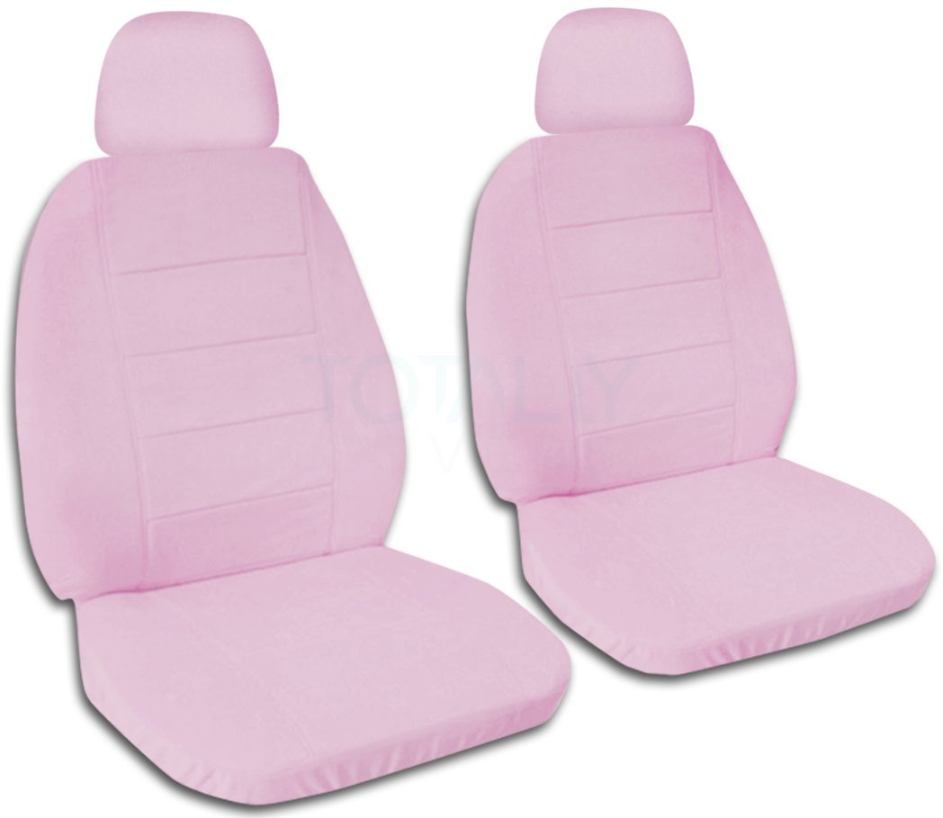 22 Colors Solid Color Car Seat Covers w 2 Separate Headrest Covers: Gray Semi-Custom Fit Will Make Fit Any Car//Truck//Van//SUV Front
