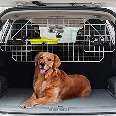 BINGPET-Dog-Car-Barrier-for-SUV-Cars-and-Vehicles-Heavy-Duty-Adjustable-Wire-Barrier-Pet-with-Suspended-Bowl