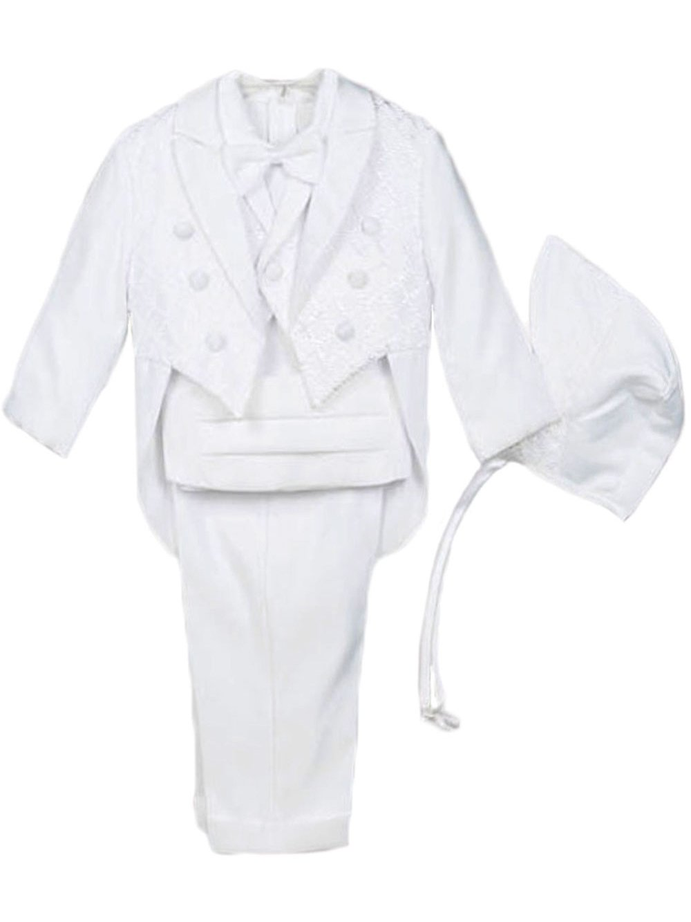 Kaifer Baby Boys' Pearce 5-Piece Christening Tuxedo - white, 24 months