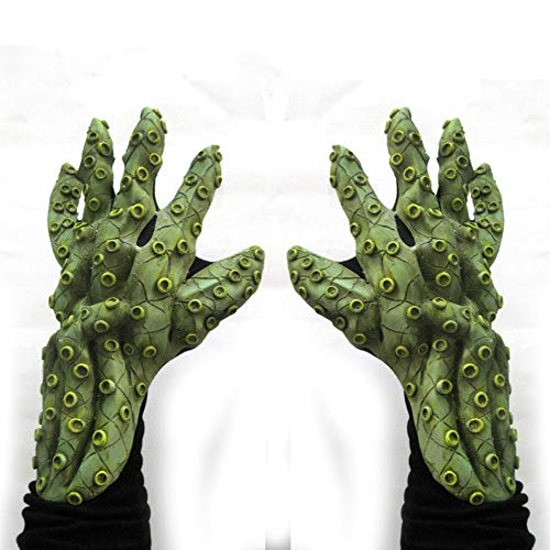 Zagone Studios Green Octopus Tentacles Sea Monster Hands Costume Gloves -