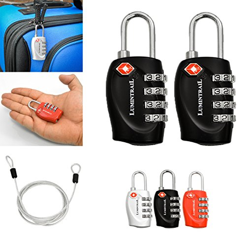 Lumintrail TSA Approved Luggage Locks – Travel
