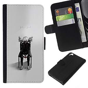 """A-type (Tokio Ghost"""") Colorida Impresión Funda Cuero Monedero Caja Bolsa Cubierta Caja Piel Card Slots Para HTC Desire 820"""