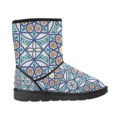 Colorfuler 5 Classic Boots Snow Snow Color13 Boots Size Print Flowers 5 On Pattern InterestPrint Womens 12 qfnxCw7fU