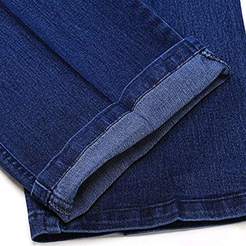 SUIWO Męskie Jeans Slim Fit Washed Denim Business Jeans Classic Plus Size Baggy Straight Men Denim Pants Baumwolle Blau Arbeitshose (Farbe: Königsblau, Größe: 36): Küche & Haushalt