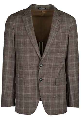 Emporio Armani Men's Wool Jacket Blazer Brown US Size 50 (US L) (Emporio Armani Wool Blazer)