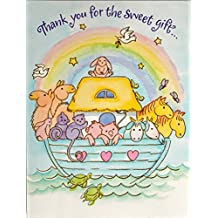 Amazon tender thoughts greetings noahs ark thank you cards 8 ct by tender thoughts greetings m4hsunfo