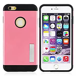 Anko Tough Armor Protective TPU Case with Kickstand for Apple Iphone 6 plus 5.5 inch(pink)