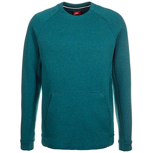 Shirt FLC T M TCH LS Turquesa Homme CRW Turq Black NSW Htr Midnight Nike qR4gx0q