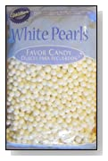 Wilton White Pearls Favor Candy....16 Oz. Bag