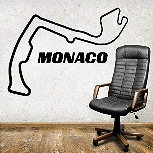 (Monaco Race Track F Circuit France Car Racing Art Boy Bedroom Room Wall Decals Decor Vinyl Sticker SK14011)