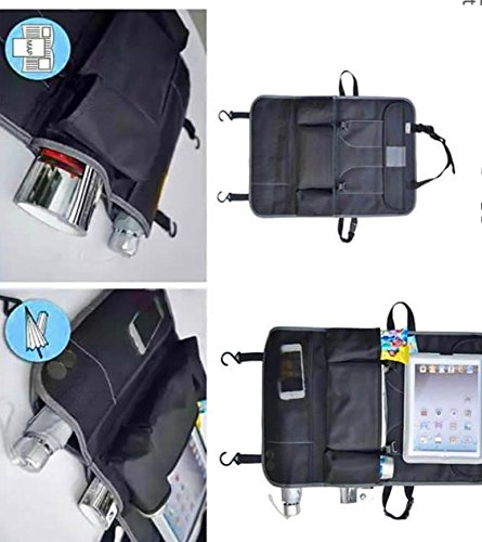 Car Back Seat Organizer & Car Seat Protector with 9-compartments for kids Travel Accessories Including Ipad/Tablet Holder. Echo Friendly with Reinforce Material for extra storage by FlowBargains (Image #9)