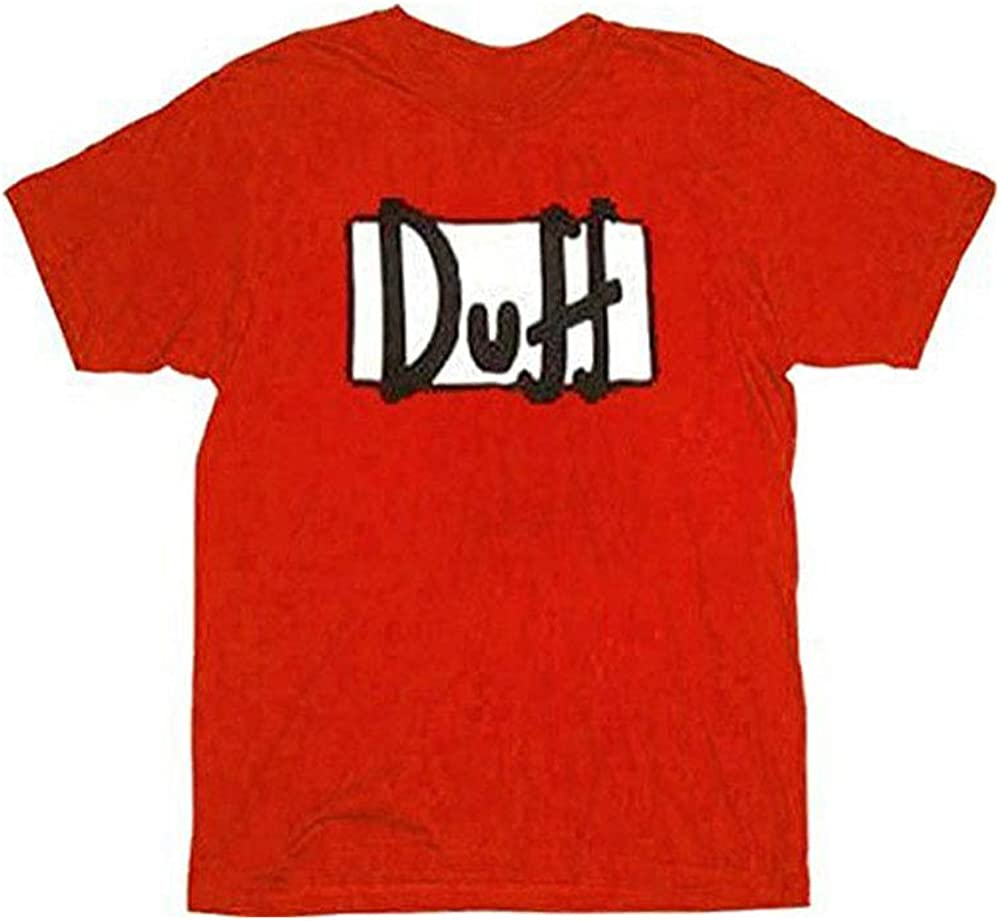 B000T6J5H4 The Simpsons Duff Beer Red T-shirt 51WSo3qrT2BL