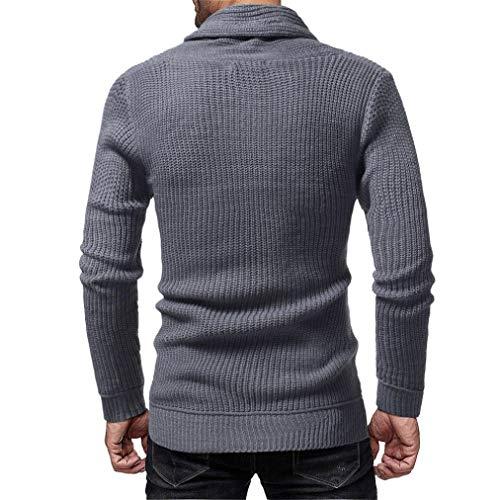 166e1002cc4 Classe Casual Fashion Soldes Veste Homme overdose Hiver Pull Blouse Gris  Sweat Laine Moulant Noel Cintrée ...