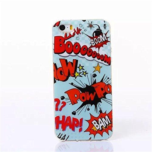 iPhone 5S Coque , iPhone 5s iPhone 5 Coque Lifetrut® [ Boom ] [Coussin d'air] [Capsule] TPU souple ** Slim Case TPU Charm NOUVEAU ** Prime Trendy flexible couleur Soft Style Coque Etui pour iPhone 5s