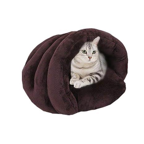 leegoal - Cama para Mascotas con Forma de Concha para Gatos y Perros pequeños, cómoda, Suave, ...