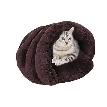 leegoal - Cama para Mascotas con Forma de Concha para Gatos y Perros pequeños, cómoda