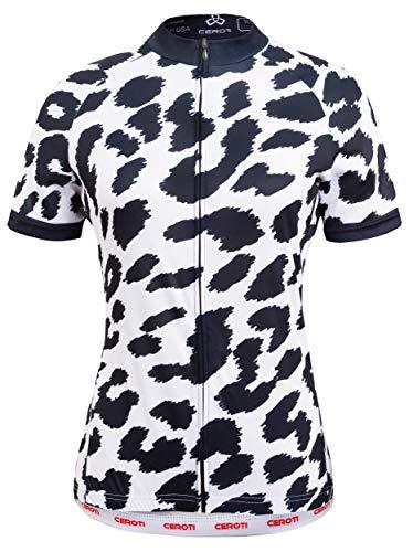 Ceroti Custom Apparel Service Women's Nature Camo Short Sleeve Cycling Jersey, Cycling Shirt, Biking Jersey Bike Shirt, Out Wear, High Breathable & Fast Dry (Cycling Jersey Custom)